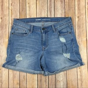 Old Navy Curvy Boyfriend Jean Shorts